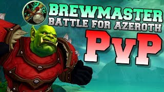 Brewmaster Monk PvP BFA BETA 8.0.1 | Duel & Arena | World of Warcraft Battle for Azeroth