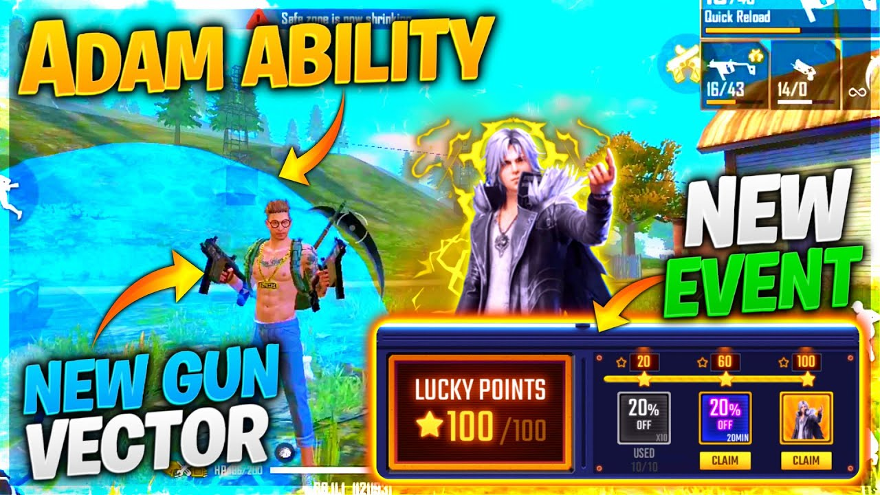 Adam Ki New Ability & Vector Gun 😱 Advance Server || New Lucky Star Event 😍 Unbelievable Game