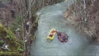 High-speed chase ends with water rescue