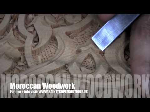 Moroccan Woodwork Moorish wood carving Arabesque Moroccan doors