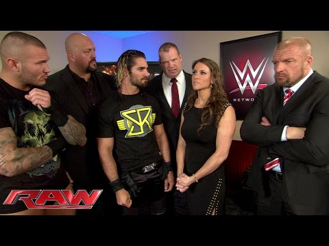 Randy Orton attends a business meeting with The Authority: Raw, February 23, 2015