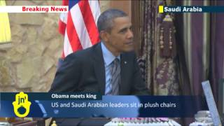 Barack Obama Meets King Abdullah in Riyadh: US president in Saudi Arabia for talks