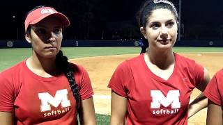 Madi Osias, Natalie Martinez and Melina Preciado- Post game vs Vol State and Northwest CC