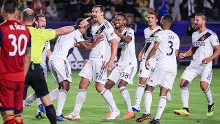 GOAL: Zlatan Ibrahimovic puts the Galaxy in the lead with a header