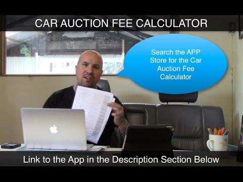 Car Auction Fee Calculator APP for BCA & Manheim Buyers Premium Fees