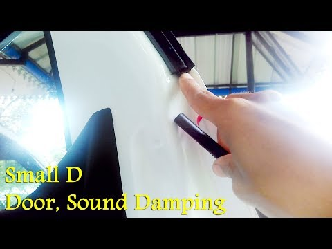 Car Door Sound Damping With Small D Rubber Seal DIY - Renault KWID