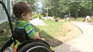 Paralyzed 3-year-old