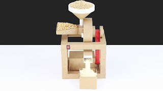 How To Make Household Multi Grain Mill From Cardboard! Corn & Wheat Mill