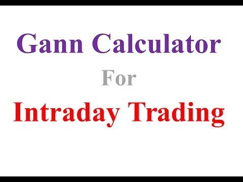 Gann Calculator for Intraday Trading