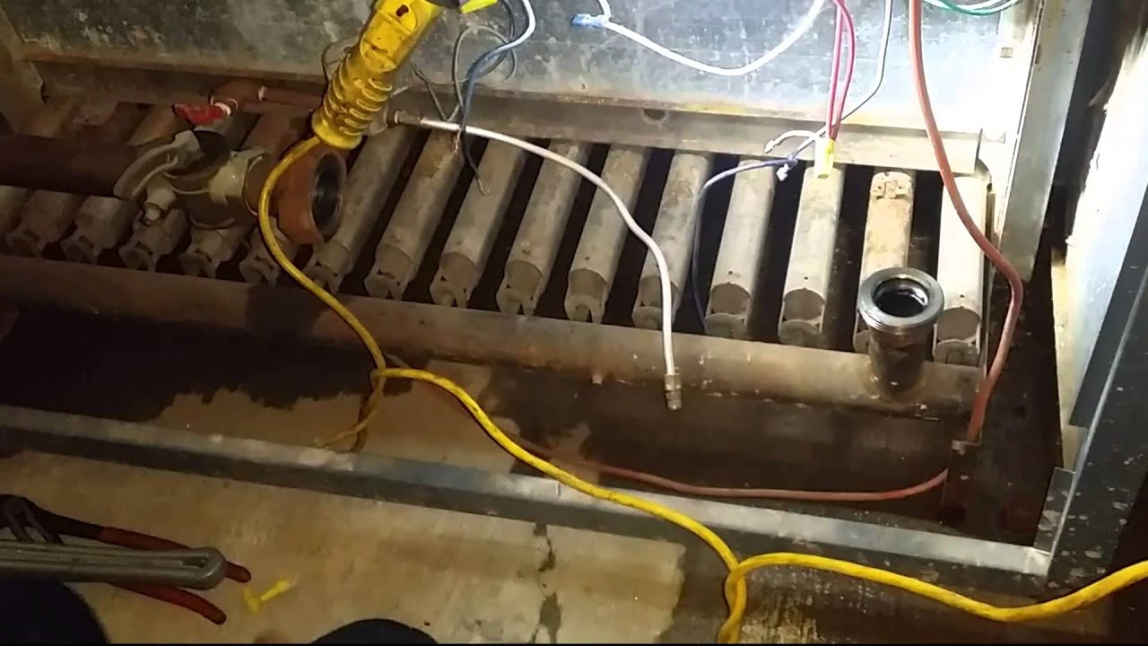 Gas Fired Boielr Serviced - YouTube