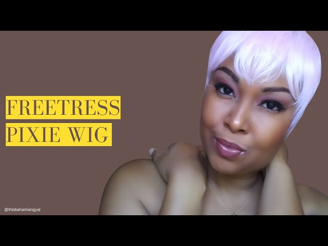 The Cutest Pink Pixie Wig | Freetress Equal Wig | Hailey Wig | Synthetic Wig | This Bahamian Gyal