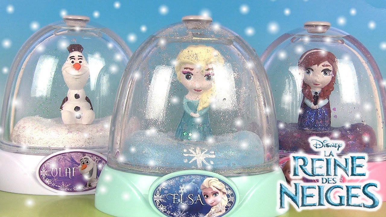 Frozen Glitter Globes Paint Your Own Dome Boules A Neige Reine Des