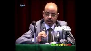 PM Meles Zenawi some of his speech