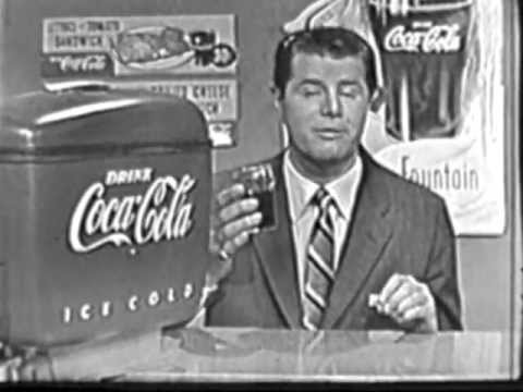 1953 COCA-COLA / COKE TV COMMERCIAL #1.  Live Kinescope