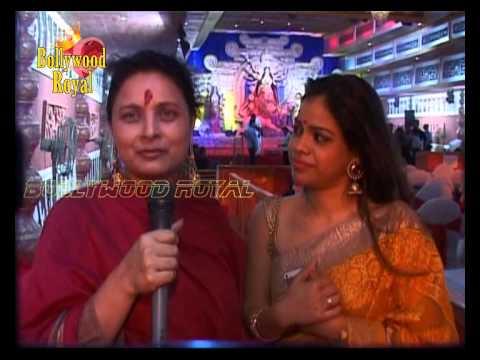 Sharbani Mukherjee & Sumona Chakravarti at Durga Pooja