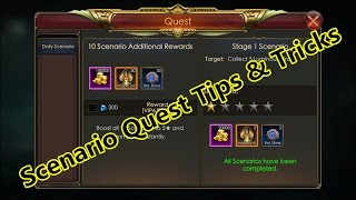 Legacy Of discord- How to do Scenario Quest fast? Tips and Tricks
