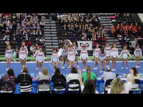 Wolcott High School State Cheer Competition 2018 Front View