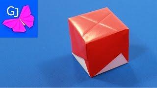 Оригами Коробочка Молния из бумаги / Как сделать коробочку из бумаги