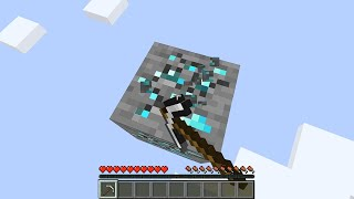 Minecraft but you only get 1 diamond block...