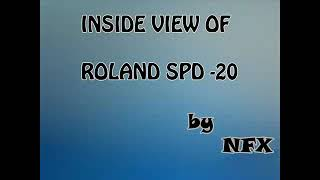 Inside view of Roland SPD-20 Octapad