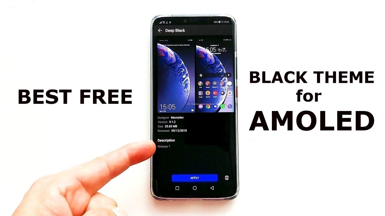 Fantastic FREE black Huawei/Honor theme for EMUI 9 (BEST on AMOLED display)