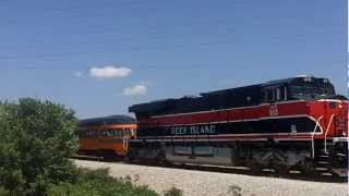 IAIS 513 & Steamer w/ Iowa Northern Power Lead NRHS Special!!