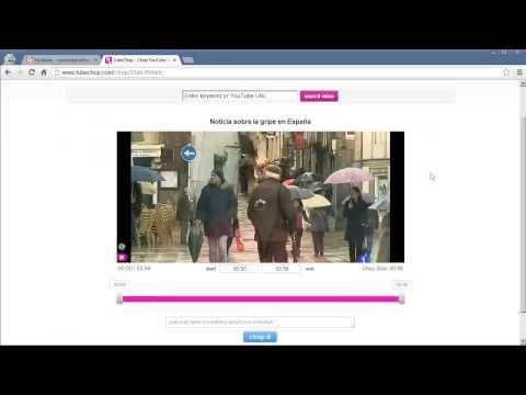 TubeChop: recortar vídeos de YouTube
