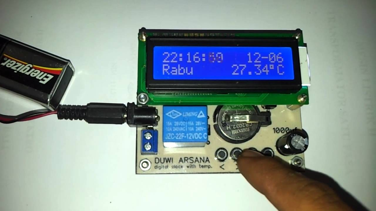 Jam Digital DS1307 LCD 16X2 Sharing My Experience
