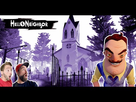 WE FOUND A HAUNTED GRAVEYARD IN HELLO NEIGHBOR. (We Broke The Game) |