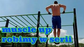 Trenujemy i chudniemy - Muscle up z fioletową gumą wspierającą, z grupy crossfit