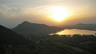 A Romantic View of Srinagar from Pari Mahal at Sunset