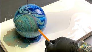 Fluid Art NEW LOLLIPOP TECHNIQUE!! Acrylic Pouring Easy Beginners!! Wigglz Art Must See!!