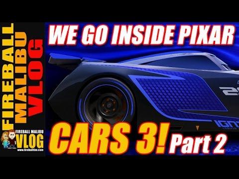 CARS 3 FROM INSIDE DISNEY PIXAR - PART 2! - FIREBALL MALIBU VLOG 605