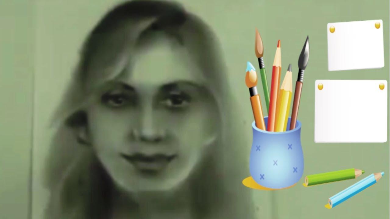 Как нарисовать ПОРТРЕТ СУХОЙ КИСТЬЮ! Учимся рисовать ПОРТРЕТ СУХОЙ КИСТЬЮ! Как Научиться РИСОВАТЬ