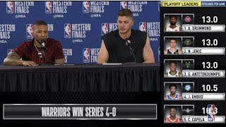Damian Lillard & Meyers Leonard  Press Conference | Western Conference Finals Game 4