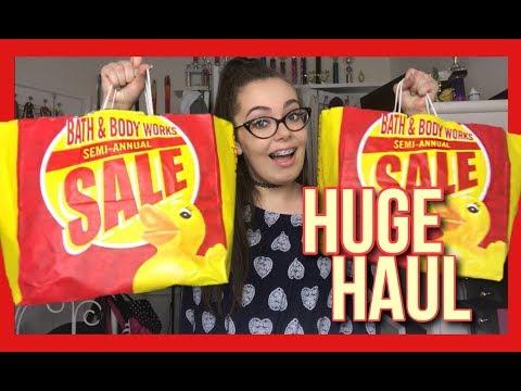 HUGE Bath & Body Works Semi Annual Sale Haul!