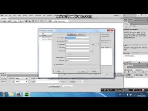 Tutorial Membuat Index.php Pada Dreamweaver Cs6