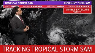Tropical Update Tracking Tropical Storm Sam