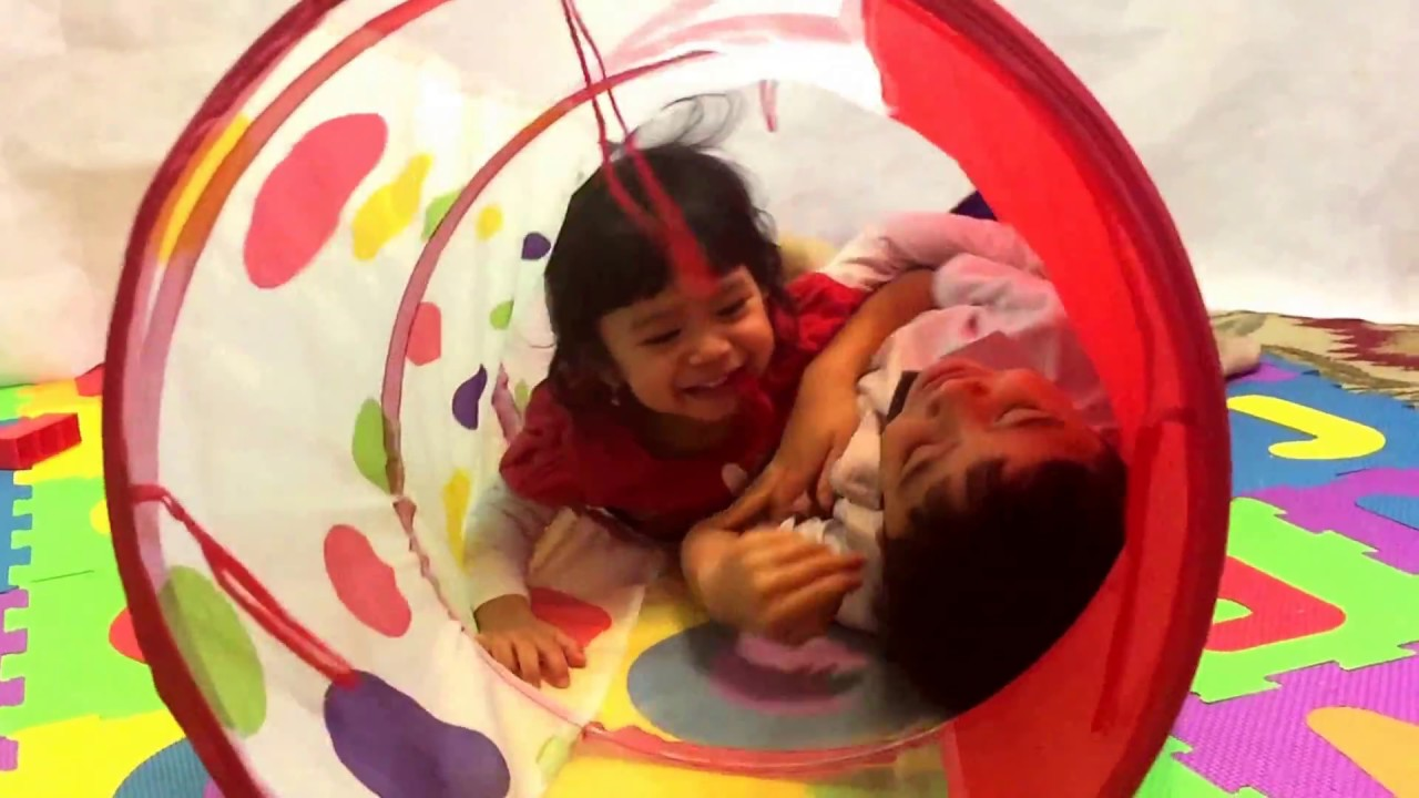 Playtime play tent with tunnel pool ball pit for kids Baby Toddler Learn To Read  sc 1 st  YouTube & Playtime play tent with tunnel pool ball pit for kids Baby Toddler ...