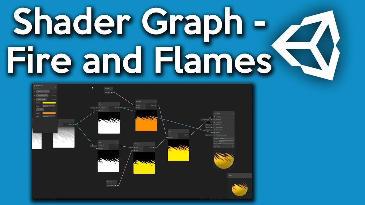 Unity Shader Graph - How to make a Fire and Flames Shader