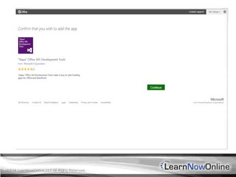 SharePoint 2013 App Model: Development and Deploy Tutorial Video: Napa