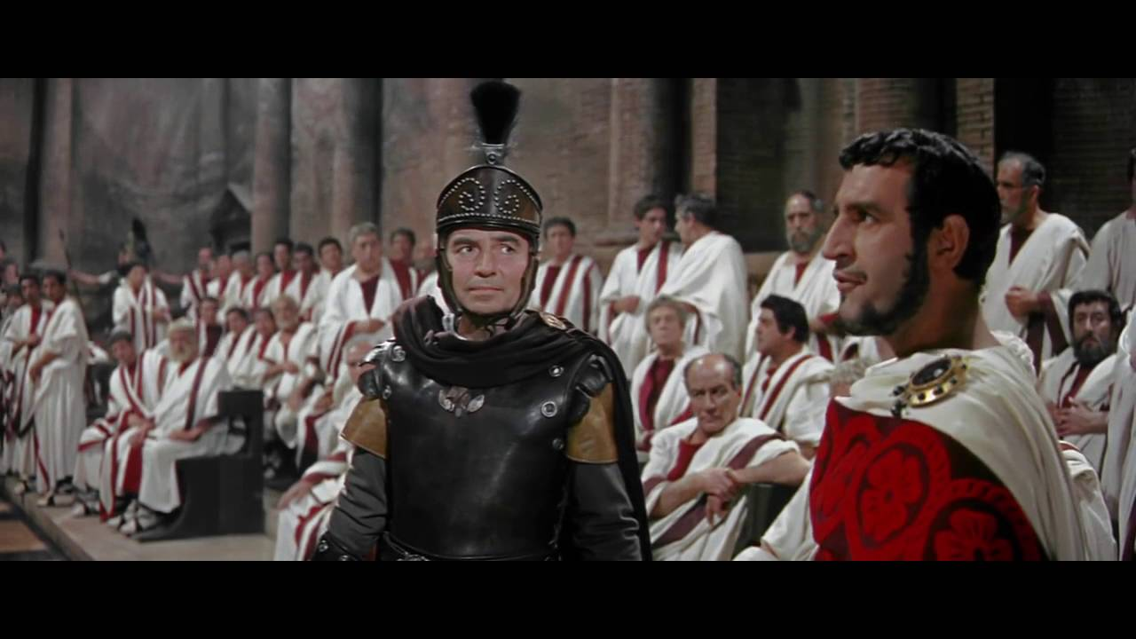 the fall of the roman empire 1964 senate scene youtube