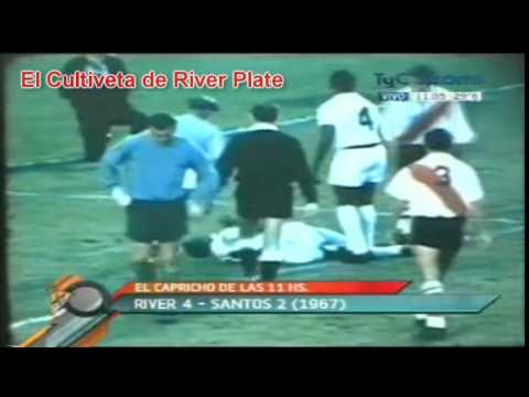 River Plate 4 vs Santos de Pelé (Brasil) 2 - (Inedito - 1967) - El Cultiveta (C.A.R.P.)
