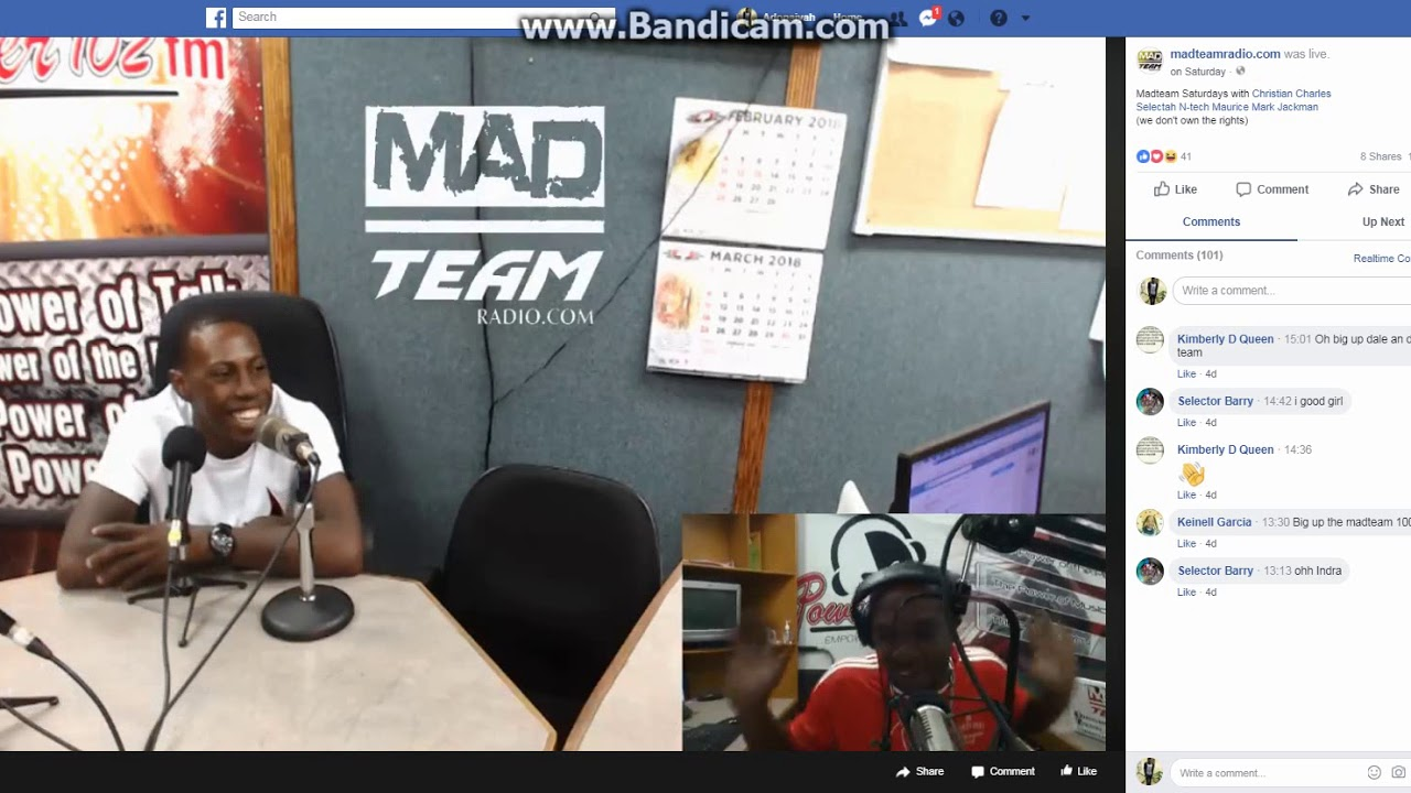 Adonaiyah Interview On Power 102.1 With The Mad Team Pt4