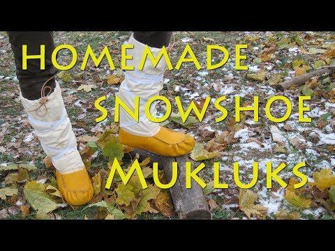 Making Snowshoe Mukluks
