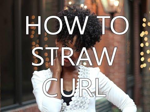 Natural Hair Tutorial : How to Straw Curl 4a/4b Hair