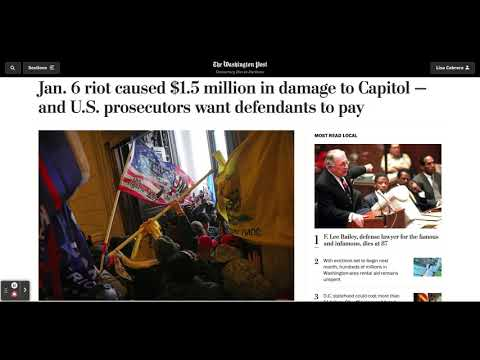 US Prosecutors Want To Charge Defendants $1.5 Million In US Capitol Damages