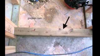 Shower Dam Construction Framing Tips - Bathrooms