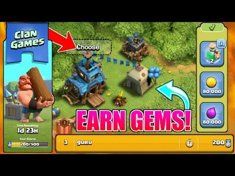 CLAN GAMES ARE HERE | WON & EARN TO MANY GEMS | NEW WINTER 2017 UPDATE