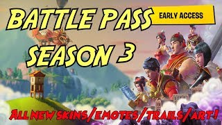 FORTNITE SEASON 3 - NEW BATTLE PASS - ALL SKINS/EMOTES + REFERENCES